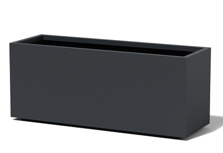 Tall Rectangular Planter Black