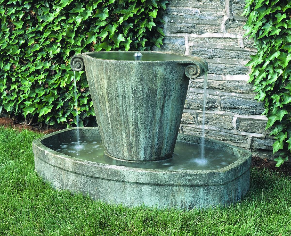 Anfora fountain soothing sounds garden fountain for Garden fountains