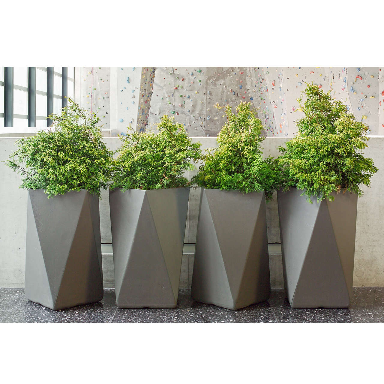 arrow container  material  fiber cement. modern cement garden planters  outdoor containers boxes on sale